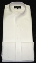 Collarless full formal shirt starched marcella front (takes separate wing collar ) 2/3 day delivery