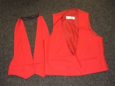 Red waistcoat £95.00 1 x M/L & 1x L/XL. Custom made from £195