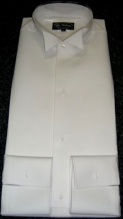 White tie traditional shirt marcella starched front, finest make, style A.