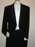 "Tailcoat black ready to wear, extra lightweight poly/wool ""The Guildhall"""